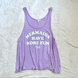 VS PINK Graphic Flowy Tank Top